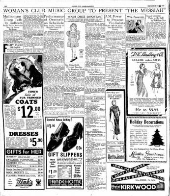 The Mason City Globe-Gazette from Mason City, Iowa on December 14, 1933 · Page 6