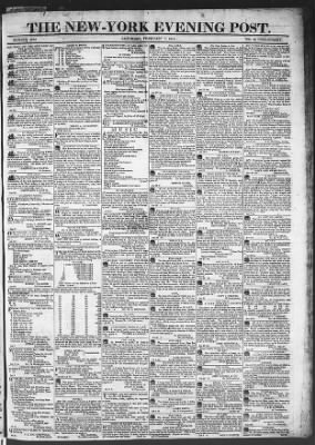 The Evening Post from New York, New York on February 7, 1818 · Page 1