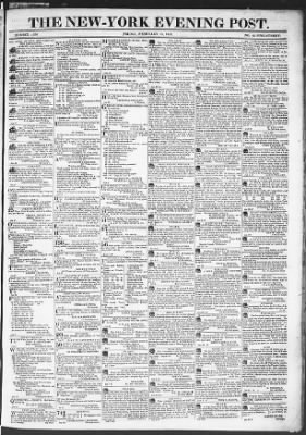 The Evening Post from New York, New York on February 13, 1818 · Page 1