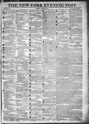 The Evening Post from New York, New York on March 23, 1818 · Page 1