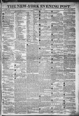 The Evening Post from New York, New York on April 1, 1818 · Page 1
