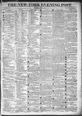 The Evening Post from New York, New York on April 2, 1818 · Page 1