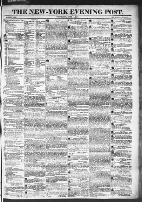 The Evening Post from New York, New York on April 15, 1818 · Page 1