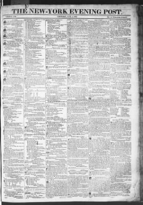 The Evening Post from New York, New York on June 4, 1818 · Page 1