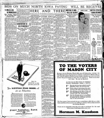The Mason City Globe-Gazette from Mason City, Iowa on March 28, 1931 · Page 9