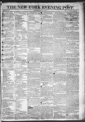 The Evening Post from New York, New York on August 4, 1818 · Page 1