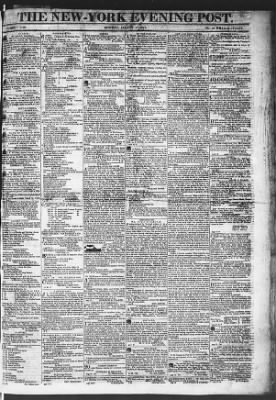 The Evening Post from New York, New York on August 17, 1818 · Page 1