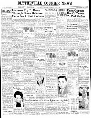 The Courier News from Blytheville, Arkansas on April 16, 1941 · Page 1