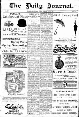 Logansport Pharos-Tribune from Logansport, Indiana on May 10, 1891 · Page 1