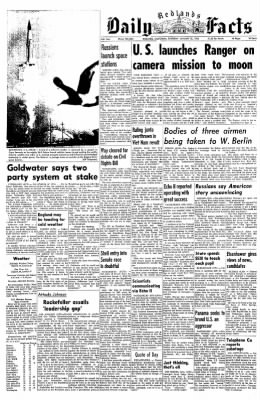 Redlands Daily Facts from Redlands, California on January 30, 1964 · Page 1