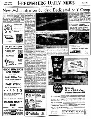Greensburg Daily News from Greensburg, Indiana on August 2, 1965 · Page 6