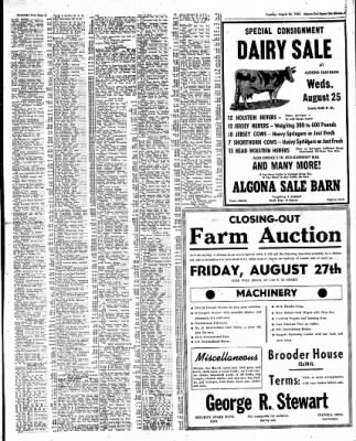 The Algona Upper Des Moines from Algona, Iowa on August 24, 1954 · Page 19