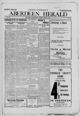 Aberdeen Herald from Aberdeen, Washington on July 1, 1907 · Page 1