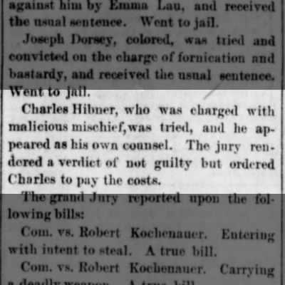 Charles Hibner, not guilty, col. 4
