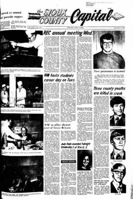 The Sioux County Capital from Orange City, Iowa on March 2, 1972 · Page 1