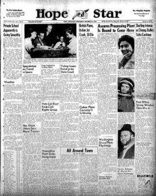 Hope Star from Hope, Arkansas on October 22, 1958 · Page 1