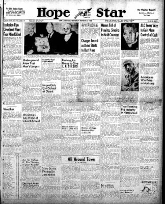 Hope Star from Hope, Arkansas on October 30, 1958 · Page 1