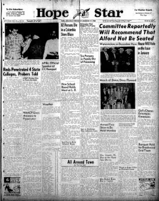 Hope Star from Hope, Arkansas on December 17, 1958 · Page 1
