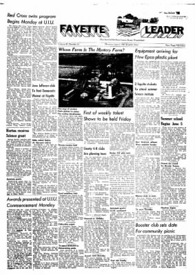 Fayette County Leader from Fayette, Iowa on June 1, 1961 · Page 1