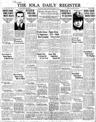 The Iola Register from Iola, Kansas on March 15, 1927 · Page 1