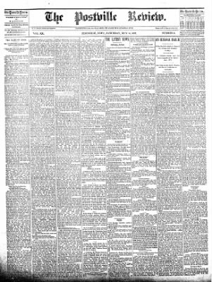 The Postville Review from Postville, Iowa on May 14, 1892 · Page 1