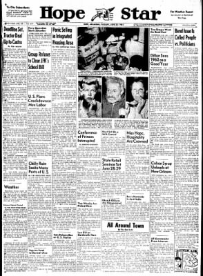 Hope Star from Hope, Arkansas on June 20, 1961 · Page 1