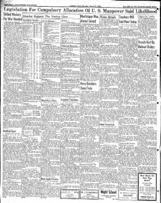 Lubbock Morning Avalanche from Lubbock, Texas on March 21, 1942 · Page 2