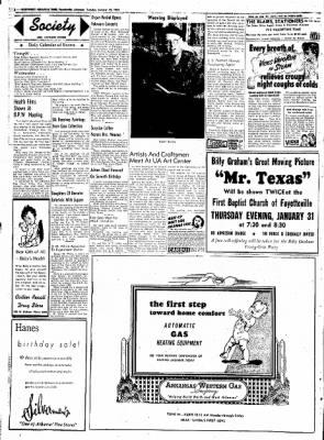 Northwest Arkansas Times from Fayetteville, Arkansas on January 29, 1952 · Page 2