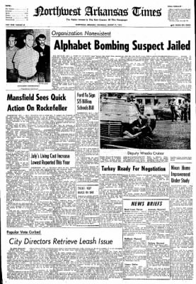 Northwest Arkansas Times from Fayetteville, Arkansas on August 21, 1974 · Page 1