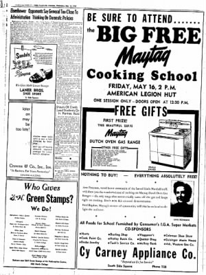 Northwest Arkansas Times from Fayetteville, Arkansas on May 14, 1952 · Page 6