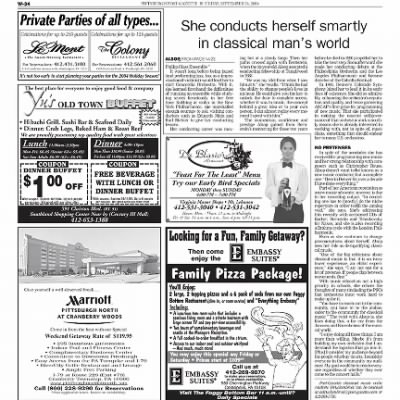 Pittsburgh Post-Gazette from Pittsburgh, Pennsylvania on September 24, 2004 · Page 95