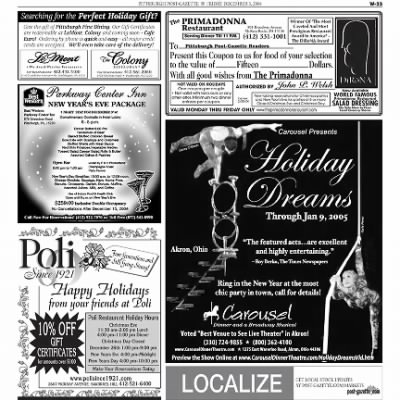 Pittsburgh Post-Gazette from Pittsburgh, Pennsylvania on December 3, 2004 · Page 92