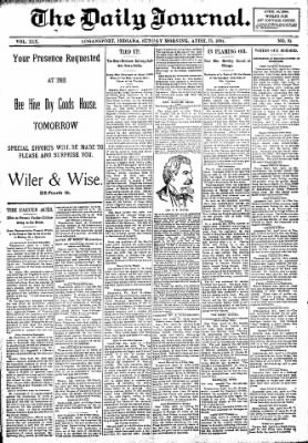 Logansport Pharos-Tribune from Logansport, Indiana on April 15, 1894 · Page 1